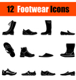 Set of mans footwear icons vector image vector image