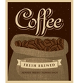 bag of fabric coffee beans vector image