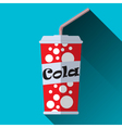 Cup of cola vector image