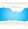 Milk yogurt or cream splashing vector image vector image