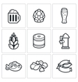 Beer and appetizer icons vector image