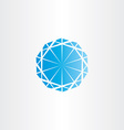 blue diamond icon vector image