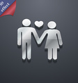 couple in love icon symbol 3D style Trendy modern vector image