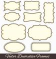Frames design vector image