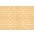 Masonry of yellow brick vector image