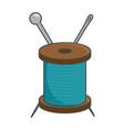 needle and wool vector image