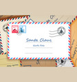 pile of santa claus christmas mailing address vector image