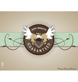 Retro vintage label on doted background vector image