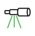 telescope on stand vector image