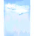 Vertical sky - blue abstract background vector image