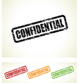 confidential stamps vector image
