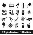 20 garden icon collection vector image