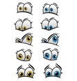 Cartooned eyes with different emotions vector image vector image