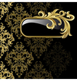 gold frame from abstract vector image vector image