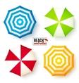 Isolated summer beach umbrellas set vector image