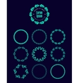 set of logo wreaths laurels decor Floral vector image vector image