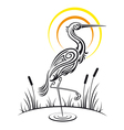 Heron Bird Background vector image vector image