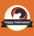 Happy Halloween Eyeball Banner vector image vector image