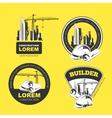 Construction color Emblems vector image vector image
