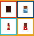 flat icon chocolate set of dessert chocolate vector image