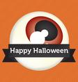 Happy Halloween Eyeball Banner vector image