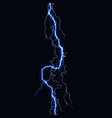 lightning flash light thunder spark on black vector image