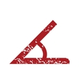 Red grunge sign of the angle logo vector image
