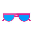 sunglasses icon eyes protection on a sunny vector image