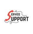 support service with handsets vector image