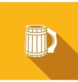 Wooden beer mug icon vector image