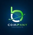 Alphabet letter b logo icon design vector image