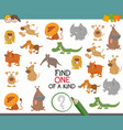 find one of a kind with animals vector image