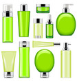 cosmetic packaging icons set 10 vector image vector image
