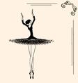 image of a ballerina vector image