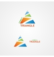 logo with a creative triangle logo vector image