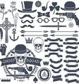 vintage gangster emblem vector image