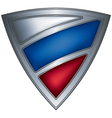 steel shield with flag russia vector image vector image