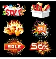 Bright Sale Tags and Icons Ready for Design vector image