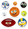 funny balls vector image