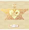 wedding gold card 380 vector image vector image