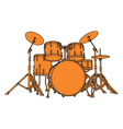 drum set vector image