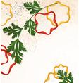 branch green parsley vector image