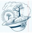 spring season doodles vector image