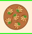 escargot dish vector image