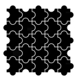 Black puzzle pieces vector image