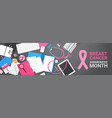 breast cancer awareness month banner disease vector image