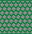 celtic irish knots seamless in white with black vector image