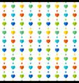colorful heart shape pattern design background vector image