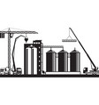 construction of grain silo vector image