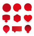 empty label red sticker vector image